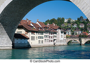 città, bern, fiume, vecchio, aare