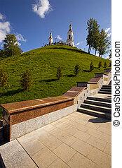 città, bielorussia, (belarus), -, vitebsk, chiesa, territorio