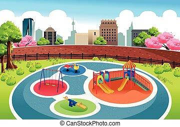 città, campo di gioco, fondo
