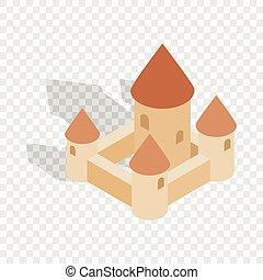 città, chillon, montreux, svizzera, castello, icona