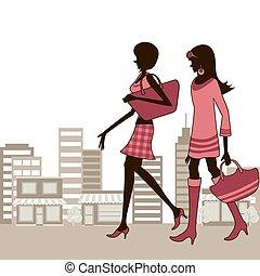 città, donne