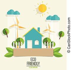 città, ecologia, concetto, verde
