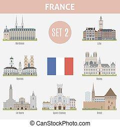 città, francia, famoso, locali