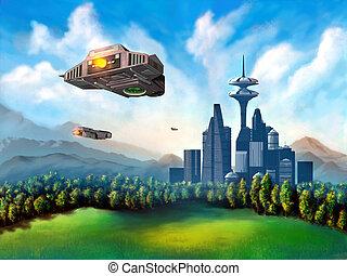 città, futuristico