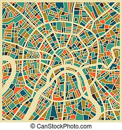 città, mosca, colorito, piano