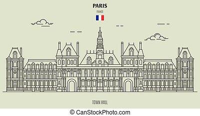 città, parigi, salone, icona, punto di riferimento, france.