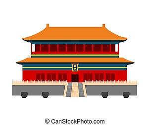 città, proibito, china., beijing