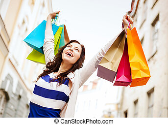 città, shopping donna, borse