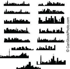 città, skylines