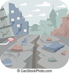 città, terremoto