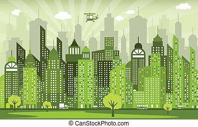 città, verde