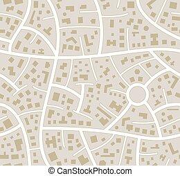 città, vettore, seamless, mappa strada