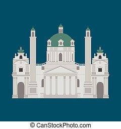 città, vienna., elementi, viaggiare, viste, austria, viaggio, architettura, punto di riferimento, austriaco, karlskirche