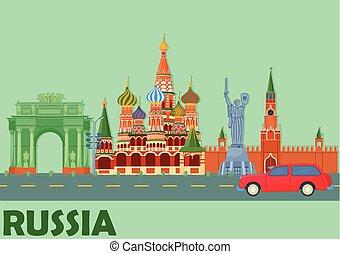 cityscape, famoso, russia, monumento