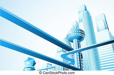 cityscape, futuristico