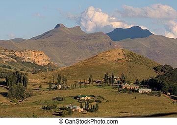 clarens, rurale, africa, sud, paesaggio