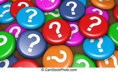 cliente, affari, domande
