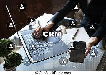 cliente, amministrazione, servizio, relazione, concept., crm.