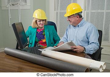 cliente, cianografie, 10, dall'aspetto, architetto