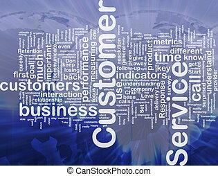 cliente, concetto, servizio, fondo