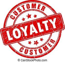 cliente, francobollo, lealtà, affari