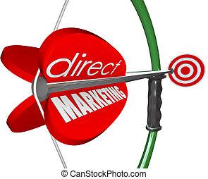 clienti, bersaglio, arow, marketing, diretto, arco, prospettive, nuovo