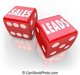 clienti, dado, affari, vendite, piombi, parole, gioco, nuovo, rosso