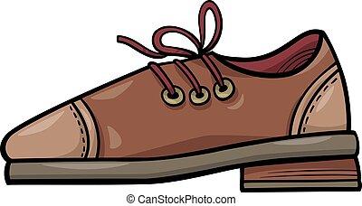 clip, scarpa, arte, oggetto, cuoio, cartone animato