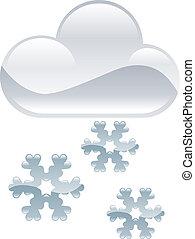 clipart, neve, tempo, fiocchi, illinois, icona