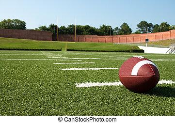 closeup, campo football, americano