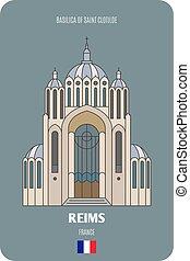 clotilde, reims, francia, santo, basilica
