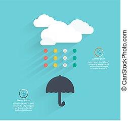 cloud., astratto, vettore, disegno, creativo