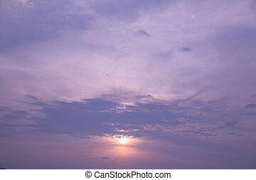 cloudscape, crepuscolo
