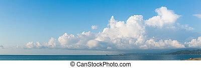 cloudscape, orizzontale, bandiera