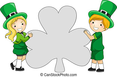 clover-shaped, bandiera