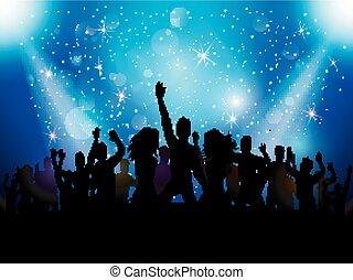 club, festa, persone