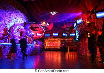 club, interno, 2, notte