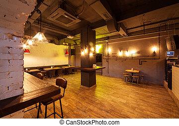 club, notte, interior.