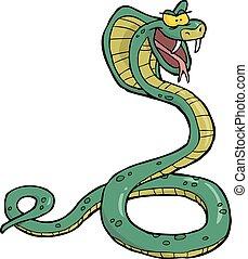 cobra, cartone animato, serpente
