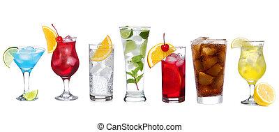 cocktail, differente, set