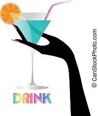 cocktail, mano