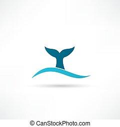 coda balena, icona