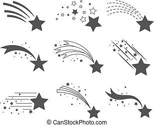 code, stelle, riprese, icone