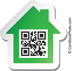"codice, adesivo, qr, dati, ""house, sale"""