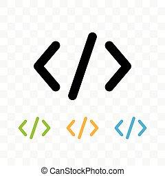 codice, illustration., icona, simbolo, isolato, vettore