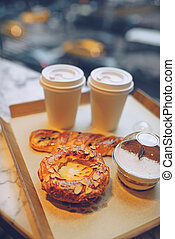 colazione, saporito, caffè, nyc