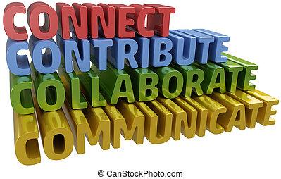 collaborare, comunicare, collegare, contribuire