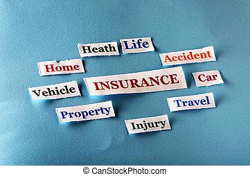 collage, assicurazione