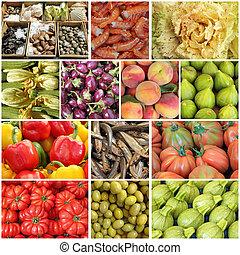collage, dieta mediterranea
