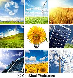 collage, nuovo, energia